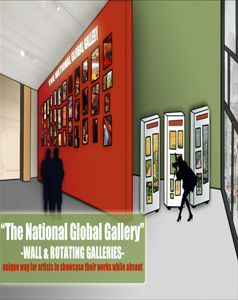 "THE"" NATIONAL & GLOBAL GALLERY WALL""....""TIME & DISTANCE"" WILL HOLD NO BOUNDARIES FOR THESE MASTERFUL WORKS OF ART & WILL BE REPRESENTED BY OUR IN HOUSE ARTIST & CURATOR.."